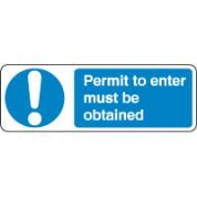 Mandatory Safety Sign - Permit To Enter 118
